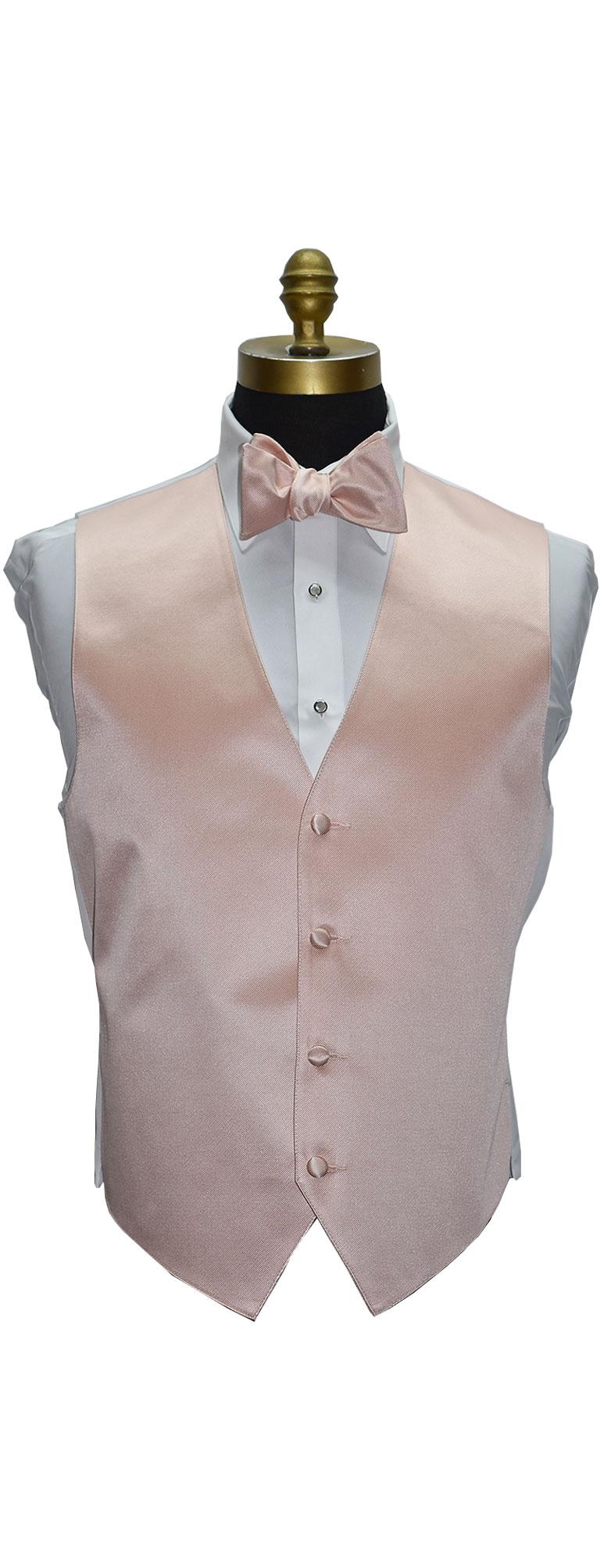 Blush Tuxedo Vest