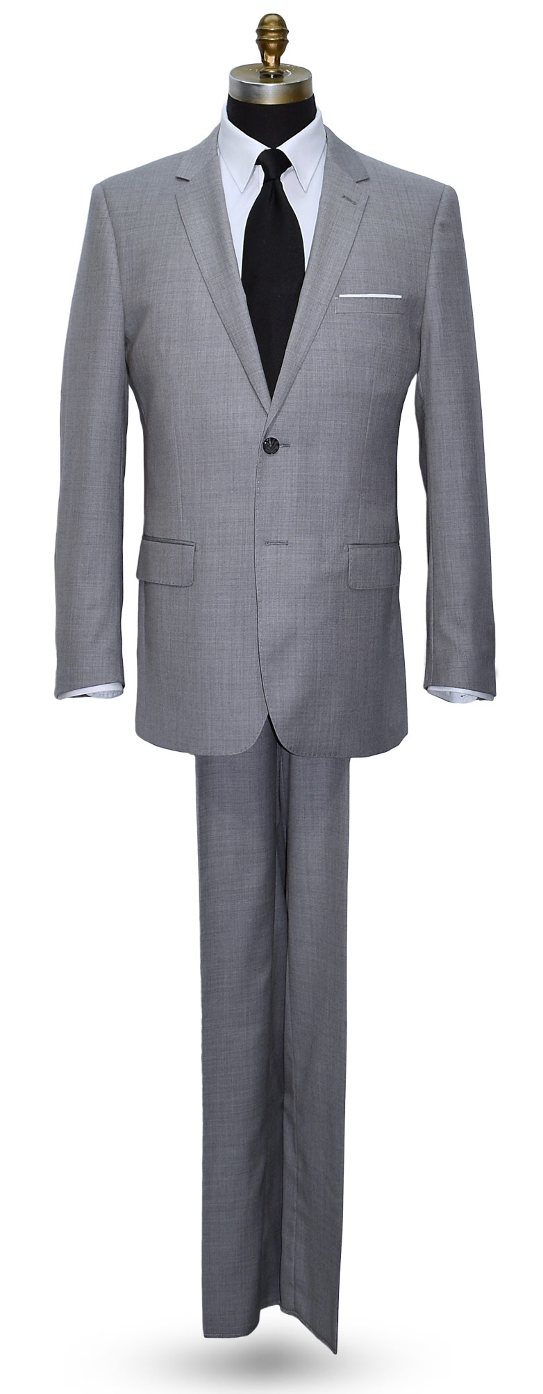 Stone Light Gray Men's Suit Coat and Pants Set