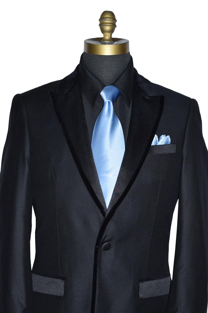 Black Tuxedo with Velvet Trim on Lapel - Coat Only