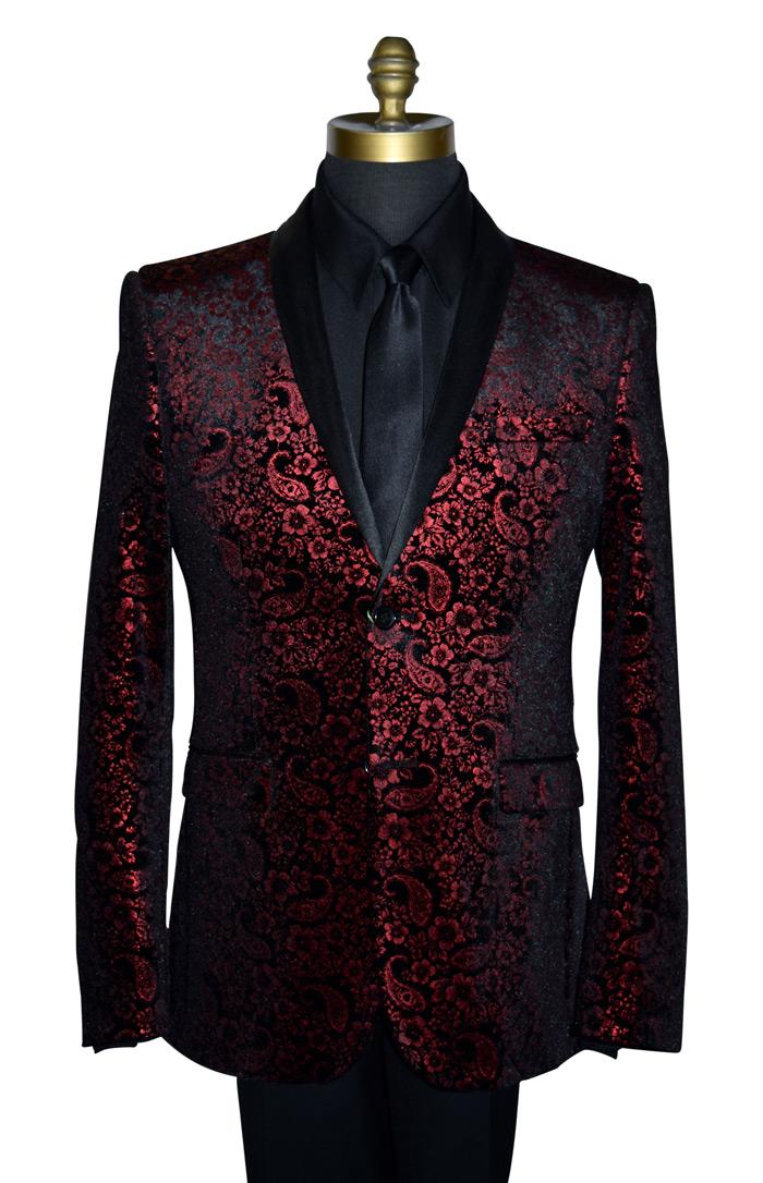 Red Crushed Velvet Coat Only