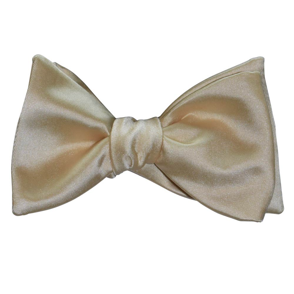 Champagne Bow Tie and Pocket Hankie