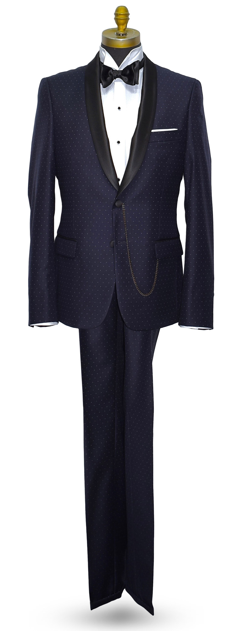 Blue Tuxedo Shawl Collar Cosmos Ultra Slim Fit Coat and Pants Set