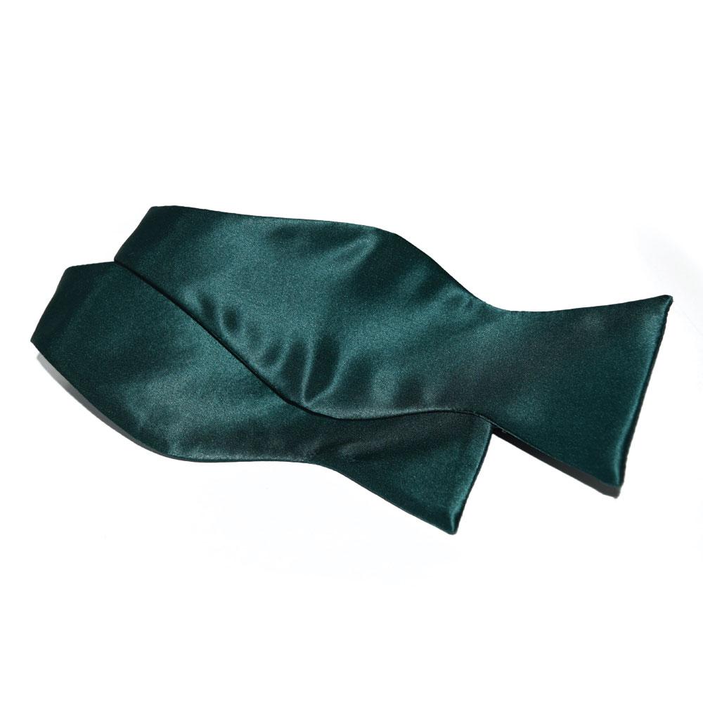 Hunter Green Silk Bowtie, Tie-Yourself