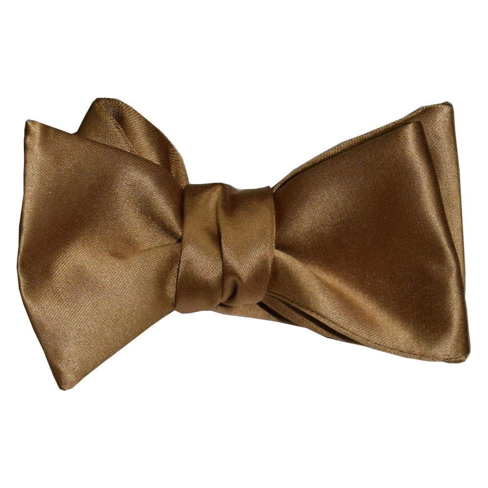 Gold Satin Bowtie - Tie Yourself