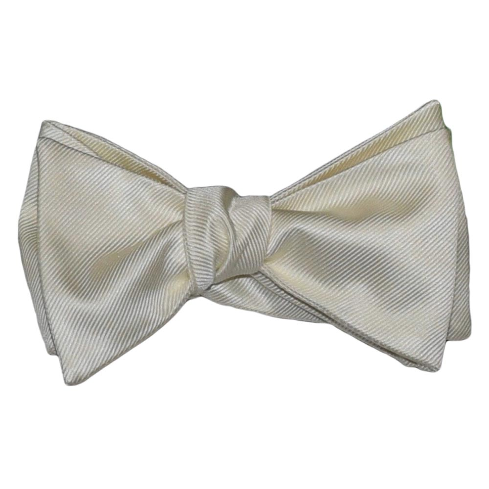 Off White Ivory Bowtie, Tie-Yourself