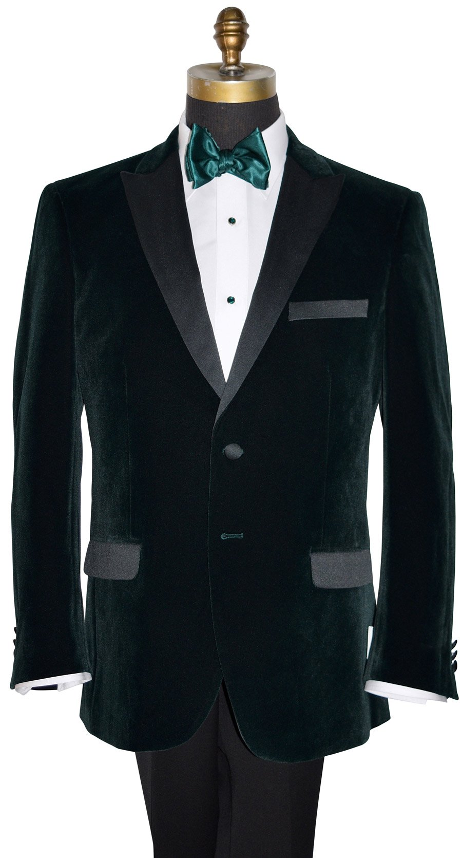 Green Velvet Coat Only