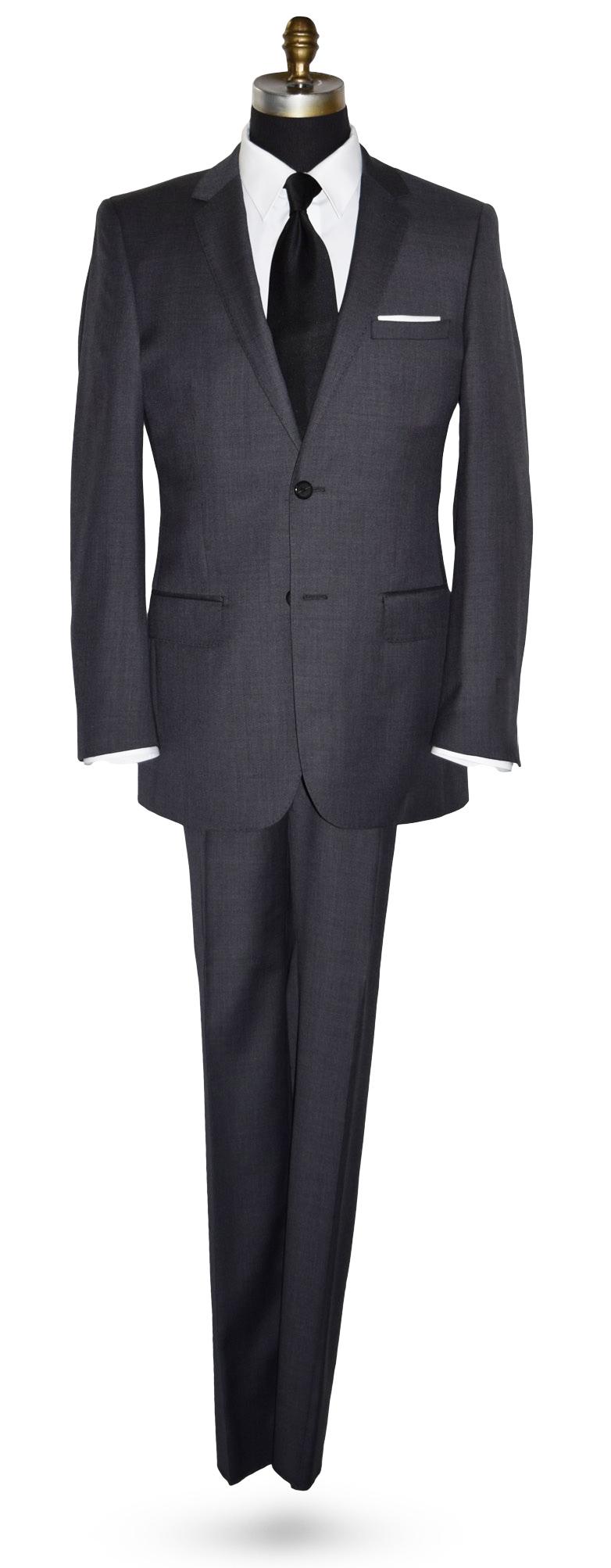 Charcoal Gray Suit Coat and Pants Set