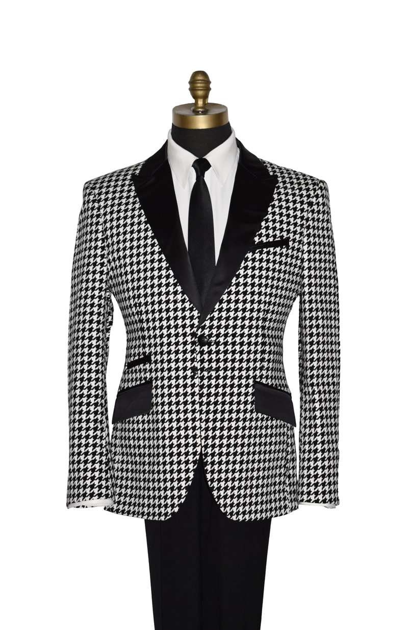 Black and White Check Coat Ony