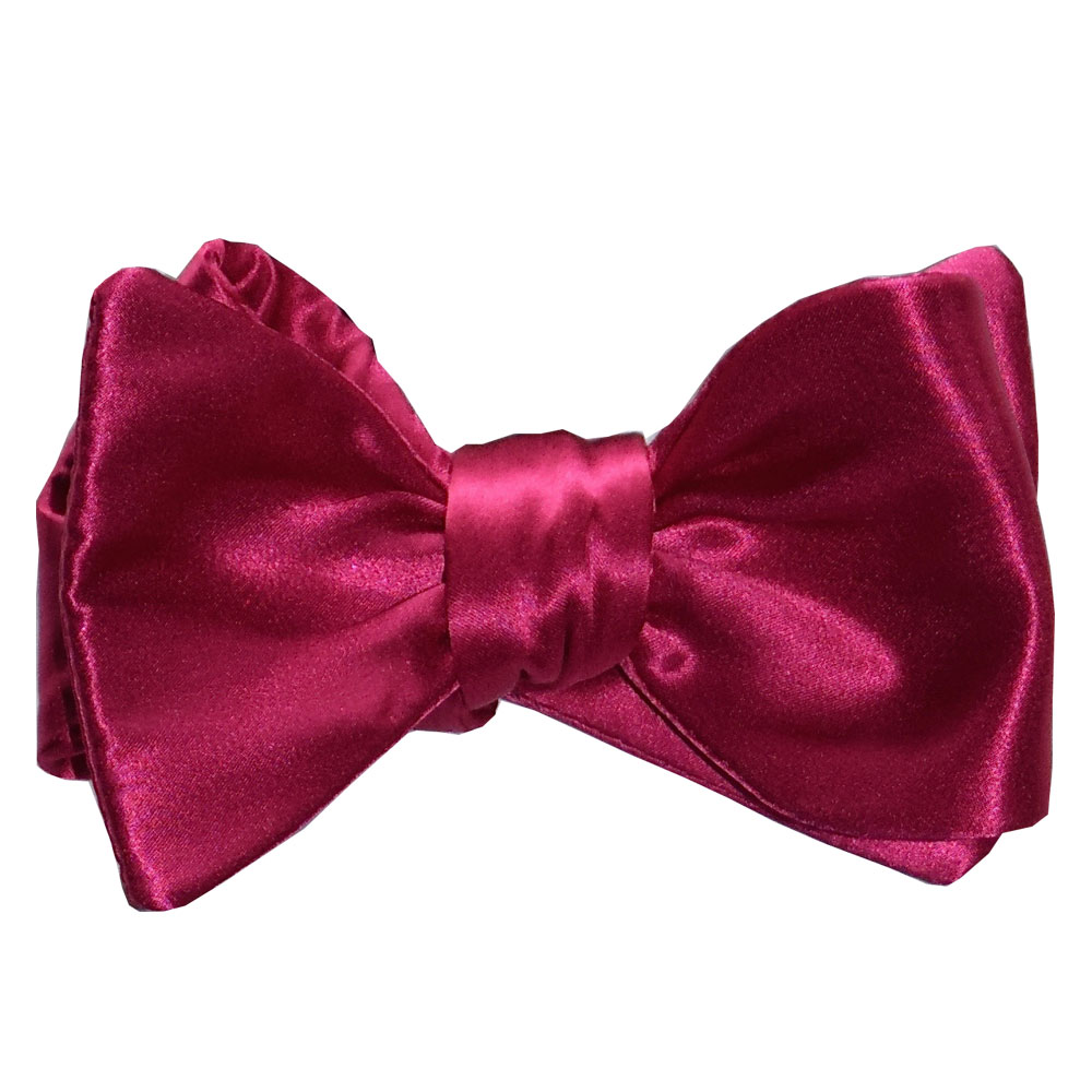 Hot Pink Silk Bowtie, Tie-Yourself