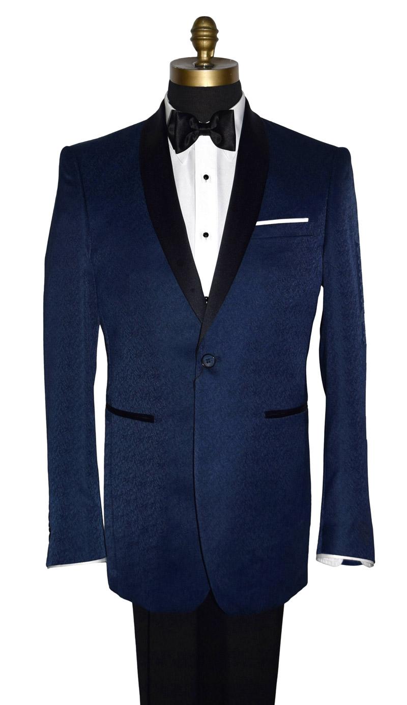 Lapis Blue Shawl Collar Jacket Only