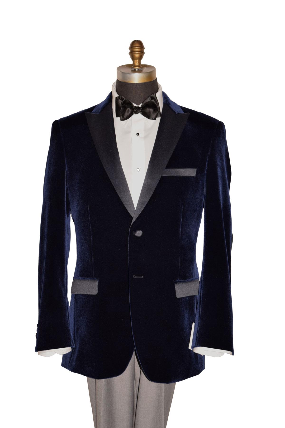 Navy Blue Velvet Tuxedo Coat Only