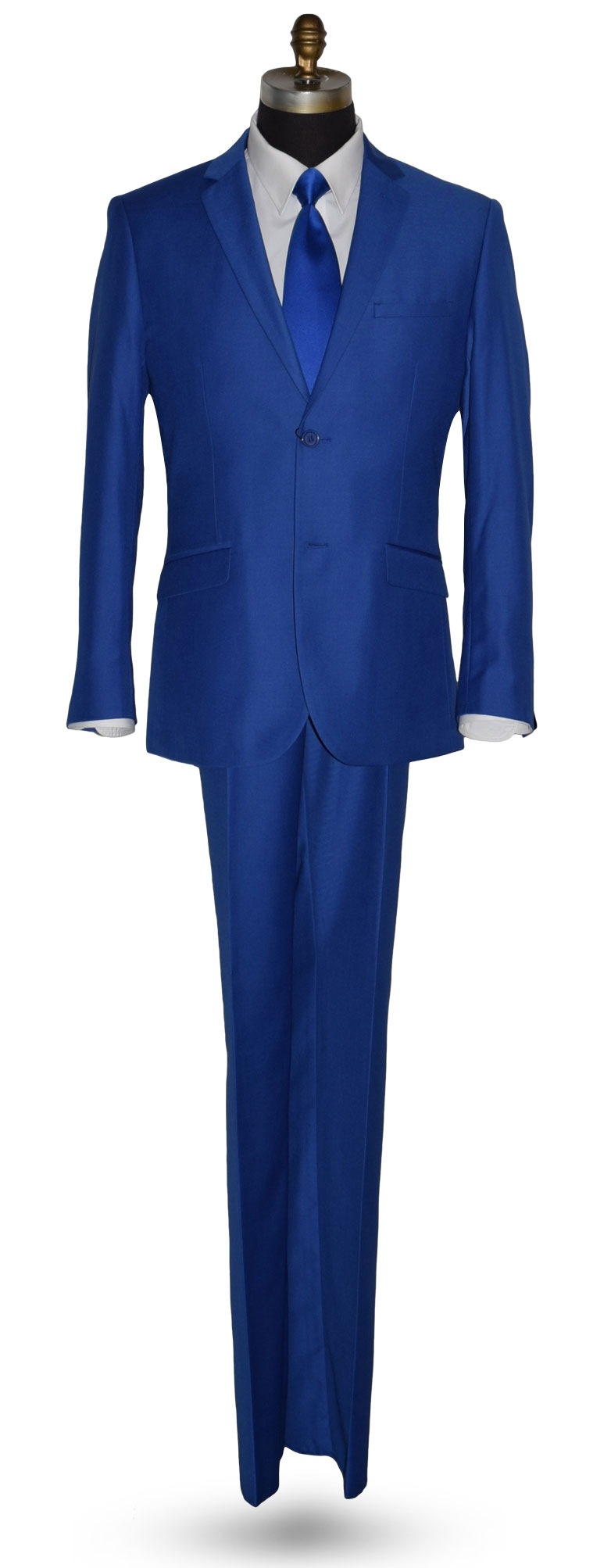 Royal Blue 3 Piece Suit - Coat, Pants and Vest