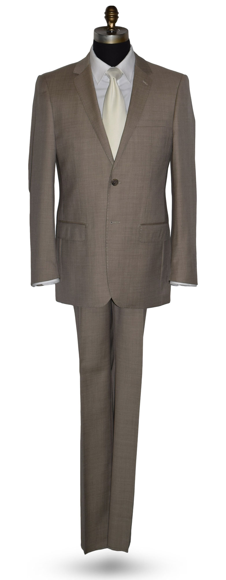 Biscotti Tan Suit Coat and Pants Set
