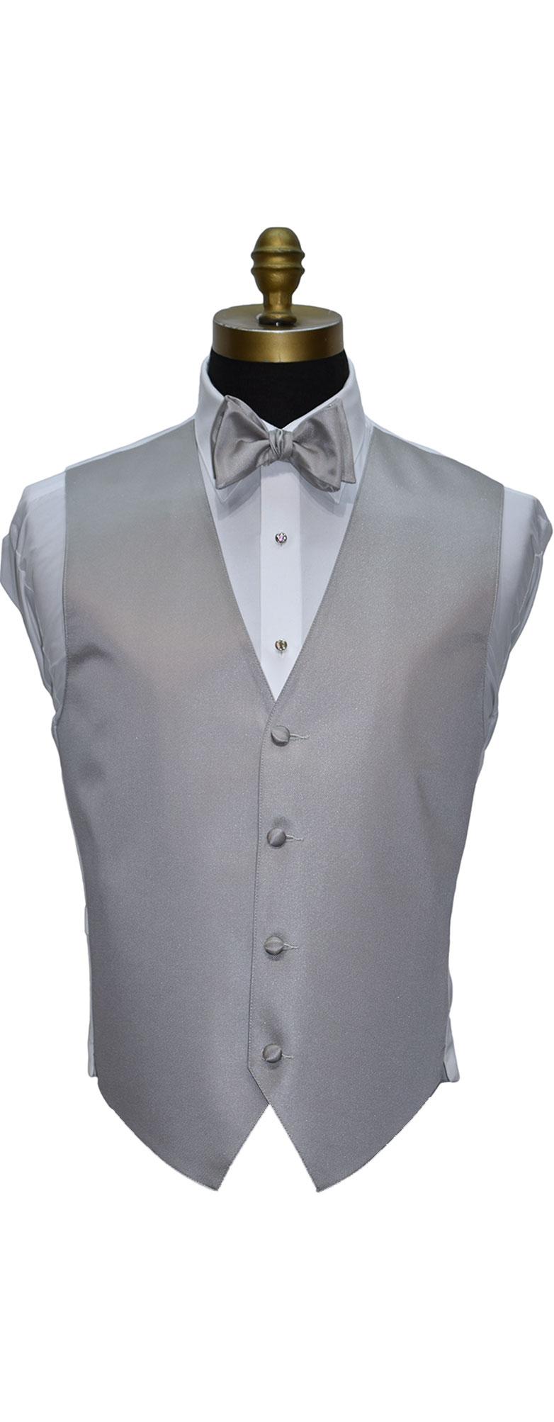 Moonlight Sterling Gray Tuxedo Vest