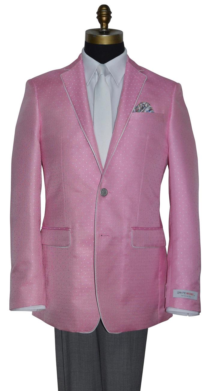 Bermuda Pink Slim Fit Tuxedo Jacket