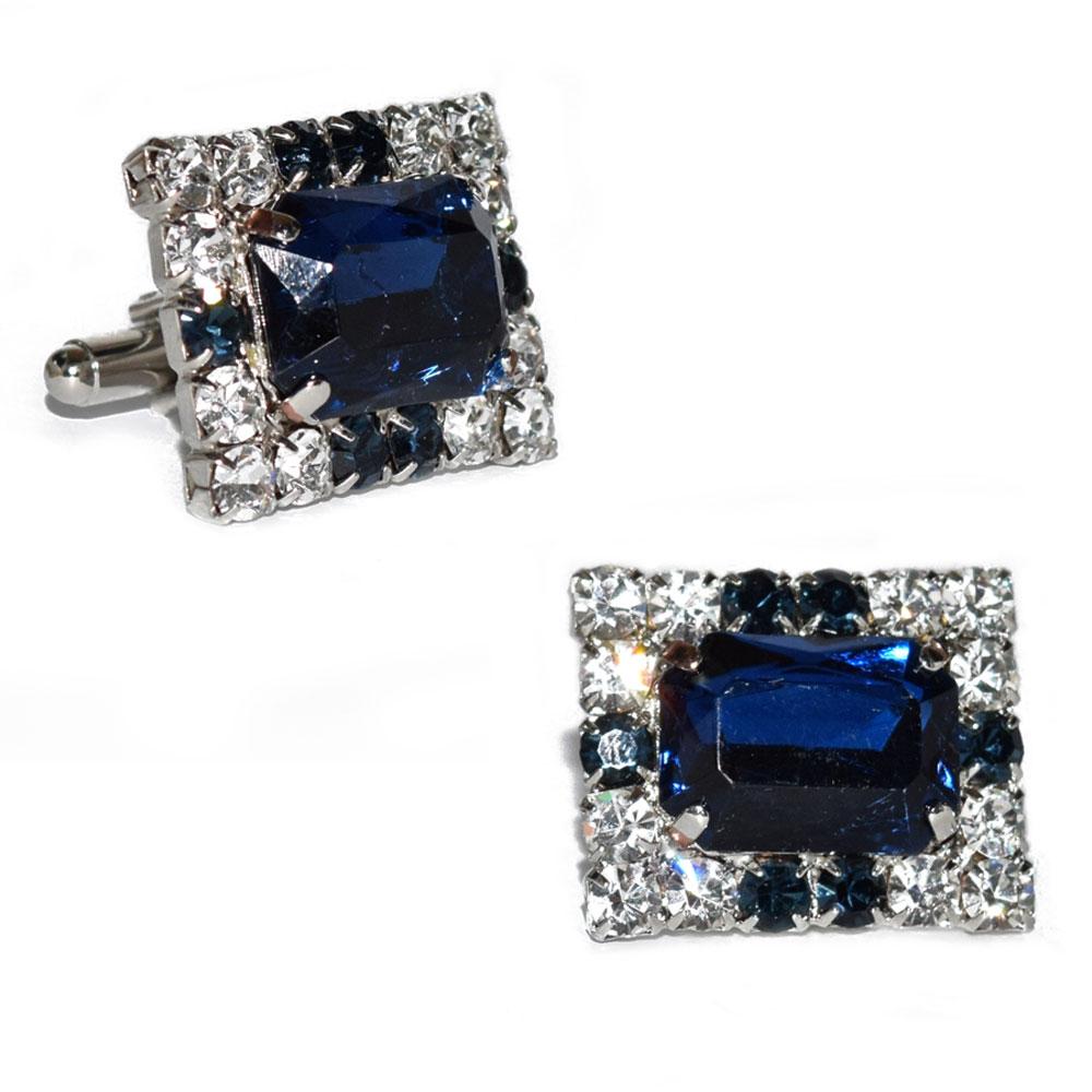 Sapphire Blue Colored Cufflinks
