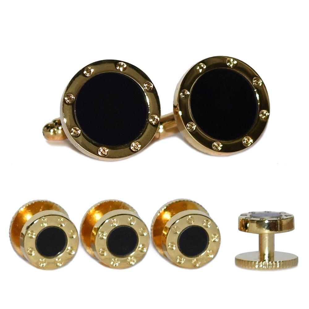 Black with Gold Finish Formal Set