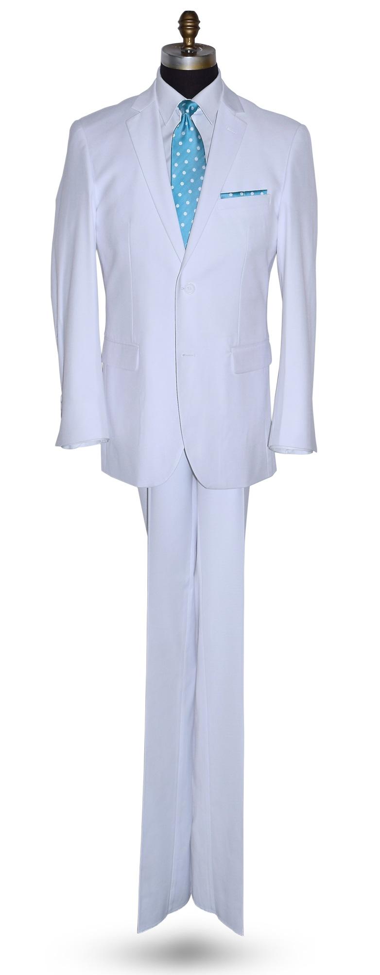 Men's White 3 Piece Suit - Coat, Pants and Vest