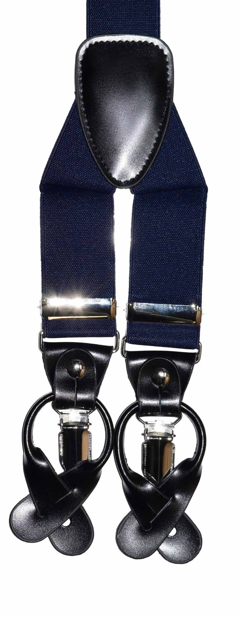 Uses either the clip ends or suspender buttons!