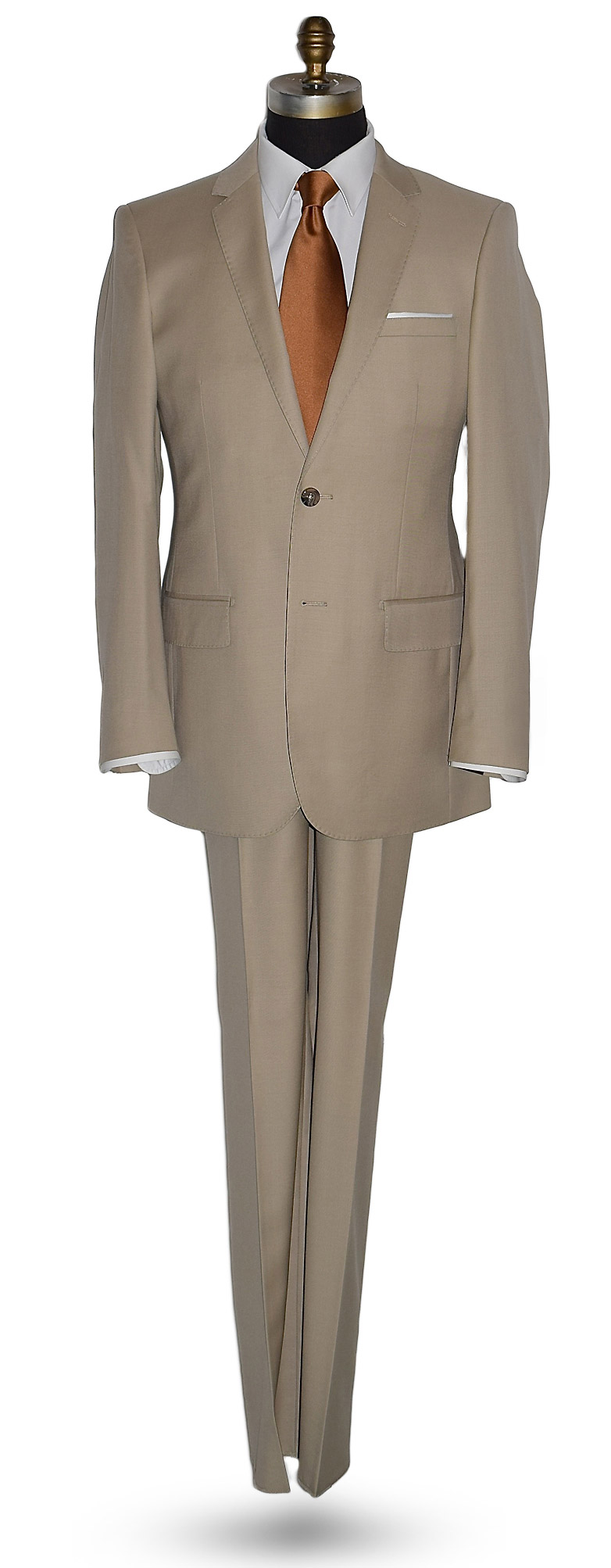 Camel Tan Suit Coat and Pants Set