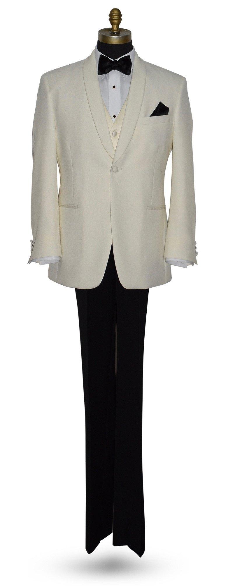 Ivory Shawl Collar Tuxedo Ensemble