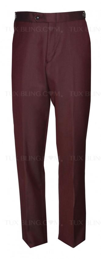 BURGUNDY TUXEDO PANTS