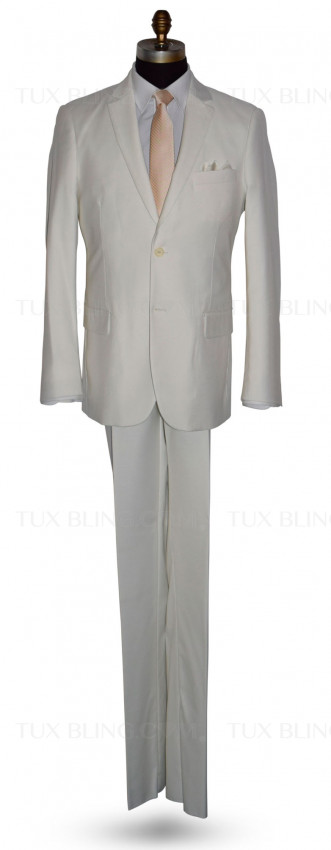 OFF WHITE-LIGHT IVORY SUIT ENSEMBLE-MODERN FIT