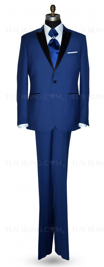 NEW BLUE PEAK LAPEL TUXEDO ENSEMBLE