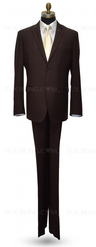 Brown Men's Suit Coat and Pants Set