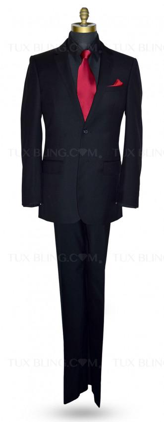 Black Suit Ensemble-Cashmere and Super Fine Wool