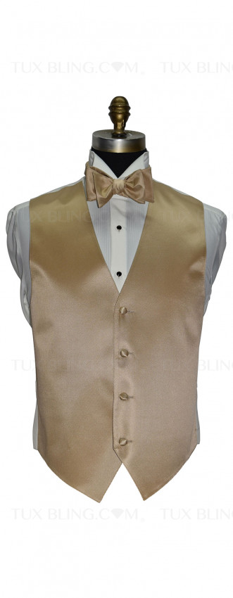 men's and boy's golden vest and golden bowtie by San Miguel Formals