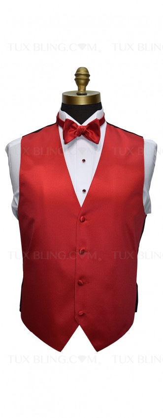 valentina ruby red tuxedo vest and bowtie by San Miguel Formals
