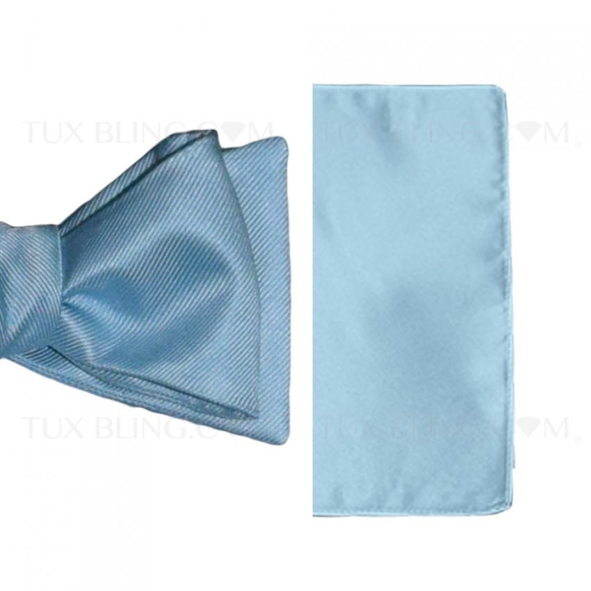 capri blue pocket handkerchief by San Miguel Formals