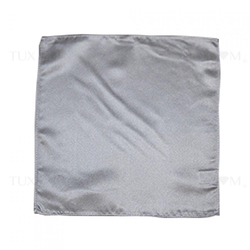 silver pocket handkerchief by San Miguel Formals