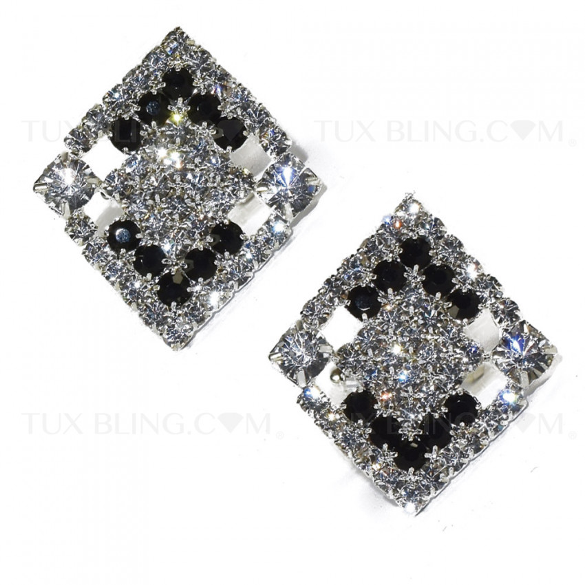 CRYSTAL BIGGER BLING CUFFLINKS