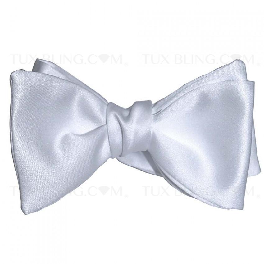 White Satin Bowtie-Tie Yourself