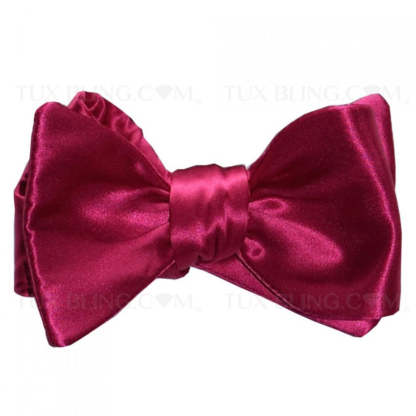 Hot Pink Silk Bowtie-Tie Yourself