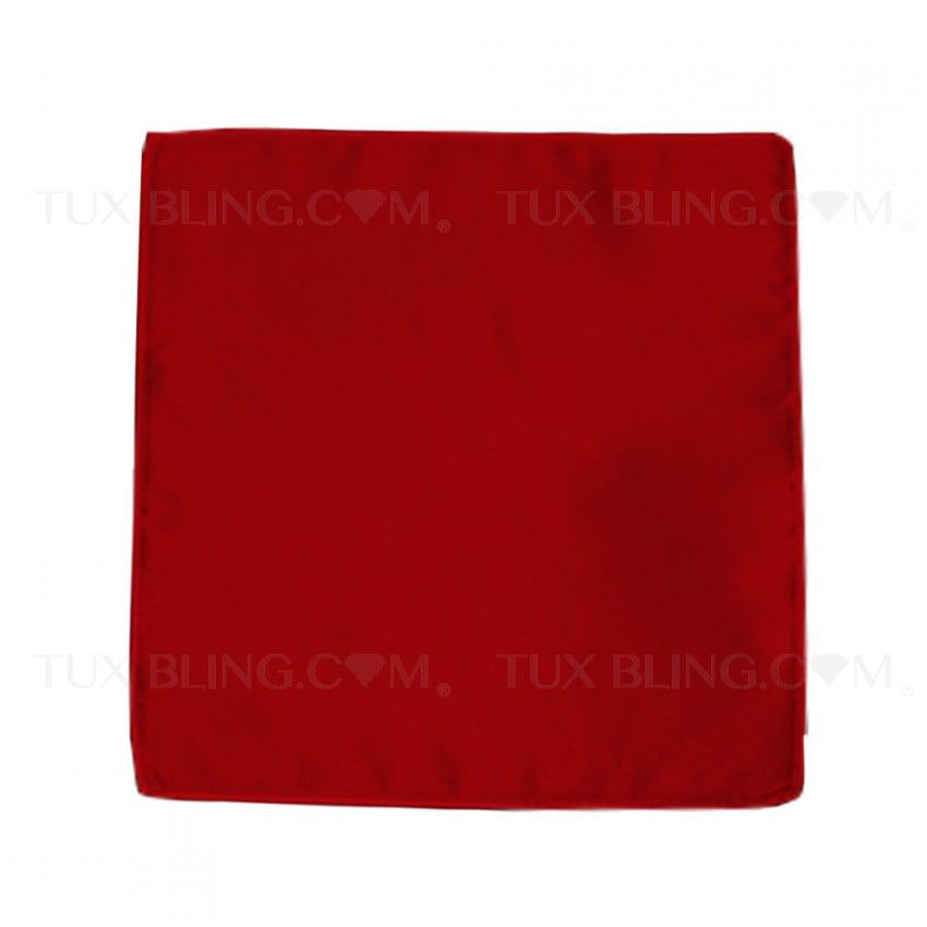 valentina ruby red pocket handkerchief