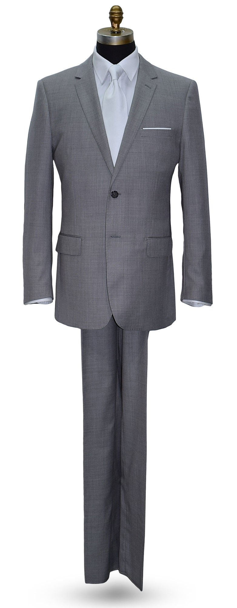 Stone Light Gray Men's Suit -Cashmere and Super Fine Wool