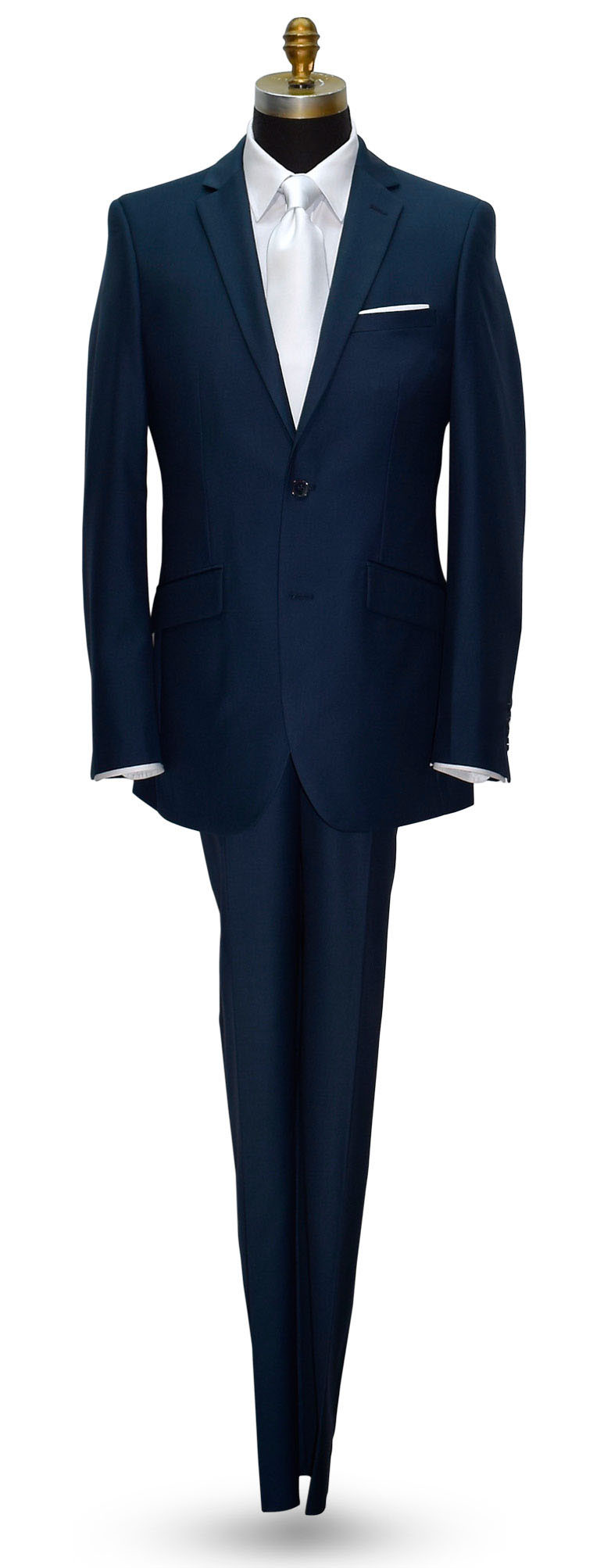 AQUA MARINE BLUE MEN'S 2 PIECE SUIT ENSEMBLE
