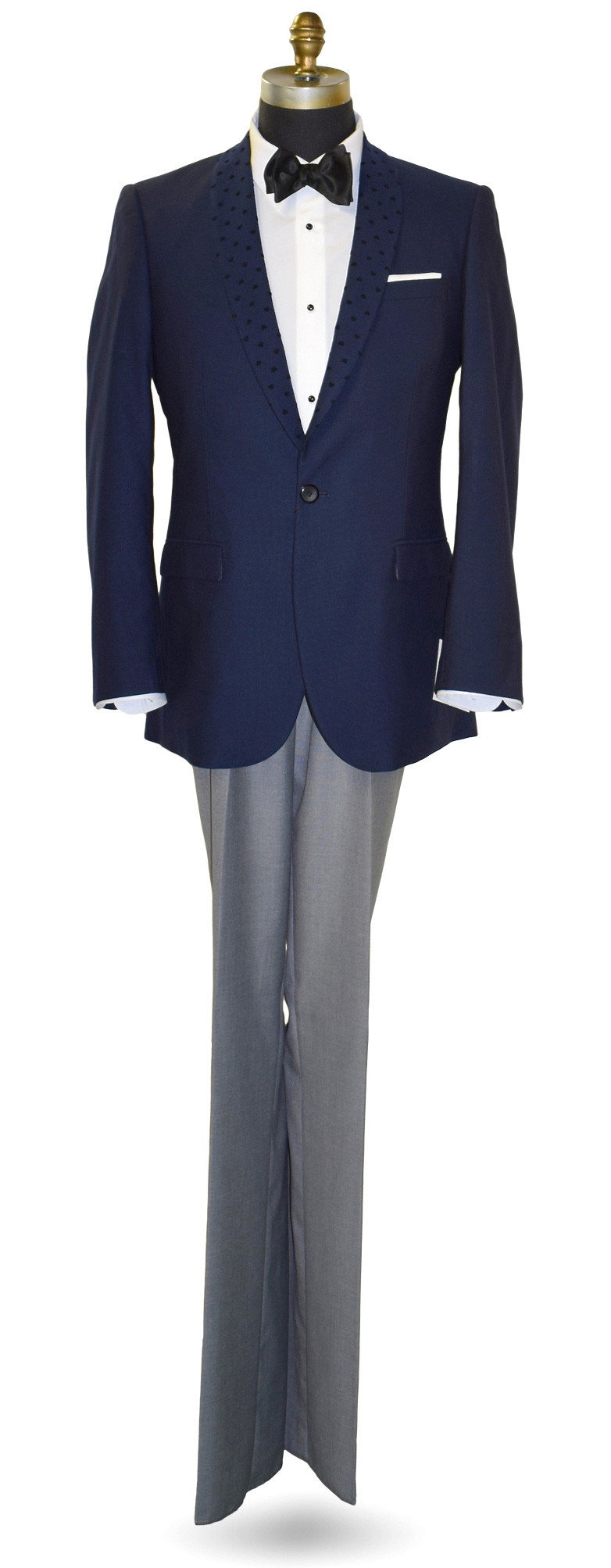 Navy Blue Shawl Collar Dinner Jacket