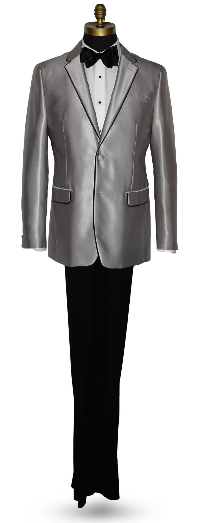 Versace Platinum Tuxedo-Suit with Black Pants