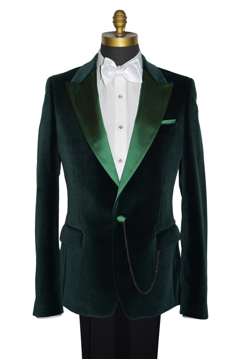Vetiver Green Velvet Tuxedo Ensemble