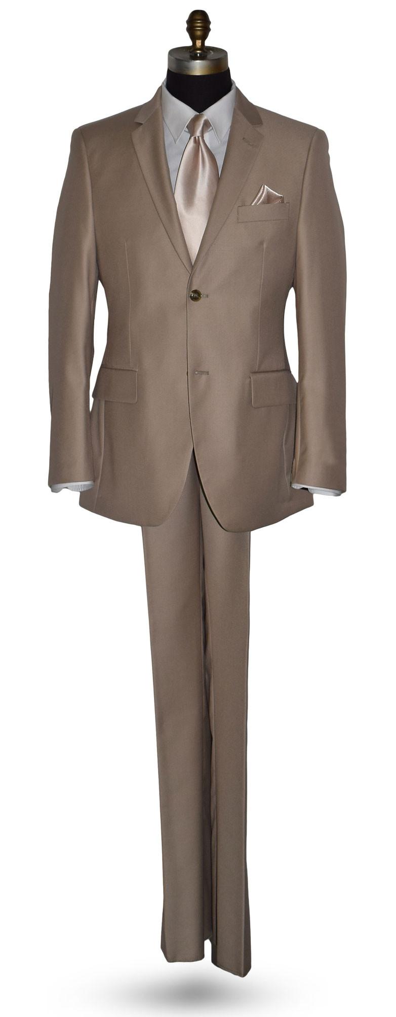Tan Suit 3 Piece Coat Pants Vest