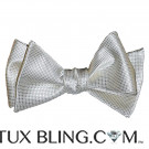 Off White Bowtie Pique Pattern-Tie Yourself
