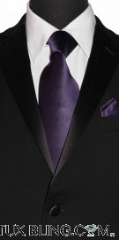 AMETHYST SILK DRESS TIE