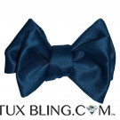 PEACOCK BLUE BOWTIE -TIE YOURSELF