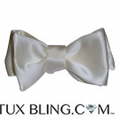 IVORY SATIN BOWTIE - TIE YOURSELF