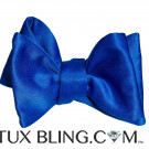 ROYAL BLUE SATIN BOWTIE,  TIE YOURSELF