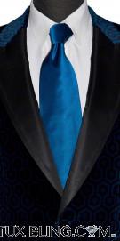 SAPPHIRE BLUE SILK DRESS TIE